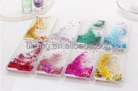 3D Glitter Bling Stars Hearts Clear Liquid case for iPhone 6