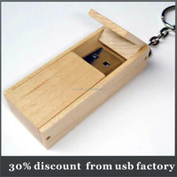 cheapest bulk 8GB wooden box usb pen drive