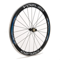 YOUA50C-B U Shape 25mm Ceramic Bearing Sapim Cx-Ray Spokes 700C Blue 50mm Alloy Braking Surface Carbon Wheelset Clincher