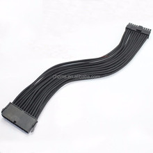 30cm 24 Pin ATX PSU Extension Cable Black Sleeved Power Supply Extension