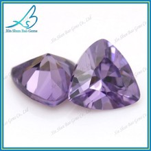 Factory direct sale amethyst trillion cut loose diamonds