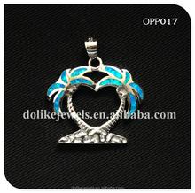 Hot Selling Opal Tree Jewellery , 925 Silver Plant Pendant Wholesale
