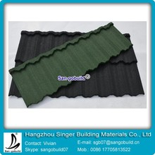 Factory Cost Stone Coated Metal / Steel Material Roofing Shingle