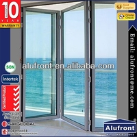 European Design Glazed Folding Door,Aluminium Profile