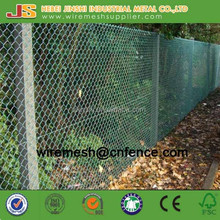 Galvanized Chain link type Chain link wire mesh fence factory