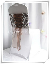 flocking chair sash/new style pattern outside party fancy sash for chair cover table cloth