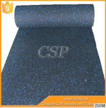 non-toxic gym rubber floor mat/anti slip rubber mat for gym/rubber gym floor roll for crossfit gyms