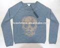 damas de lana de cachemira intarsia cráneo cuello redondo kinitted sweaterSWT-LEM4033