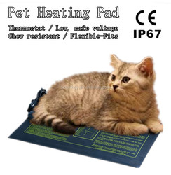 CE 12V cats and dogs Waterproof electric pet heating pad with Chew resistant cord