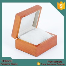 High quality wooden watch box with pillow wholesale manufacturer in china