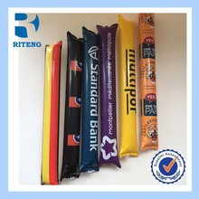 PE promotional inflatable cheering stick,bangbang noise sticker/stamp