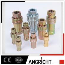 high pressure steel close type hydraulic quick release coupling / hydraulic quick coupler