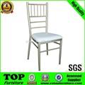 aluminio de alta calidad de la boda silla tiffany con cojines