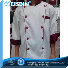 free shipping high quality long sleeve black color stud buttons executive chef coat chef jacket chef uniforms