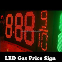 Gas Station Price Sign,Gas Station Led Price Sign,Led 7 Segment Price Signs For Petrol Station with double sided pole sign