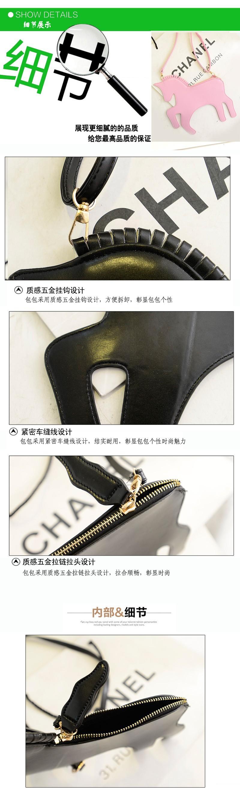 Единорог черный мешок серебра розовые лошади мешок продажи леди партии мешок моды стиль вечерняя сумочка 05177