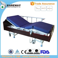 Stable electric home care bed for elderly