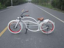 24 inch white color fashion design chopper bike