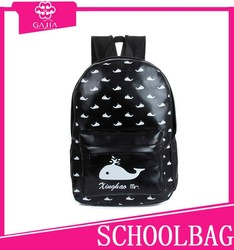 Promotional stylish PU travelling school bag girl ,school backpack 2015