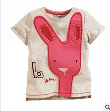 Z87419C 2015 europe style fashion latest short sleeve cute print childs tops t-shirts