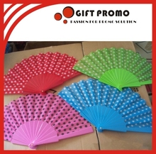 Colourful Plastic Foldable Hand Fan