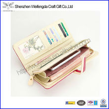 New Design Fashion Slim Leather Wallet Sale With Phone Holder
