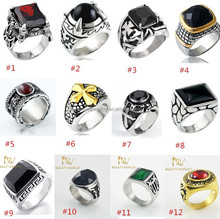 316l stainless steel rings with diamond/Fashion jewelry 316l stainless steelstainless steel men ring