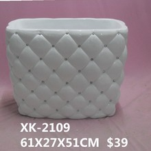 HUAWEI Indoor White Color and Diamond Big flower Pot
