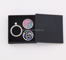 new 33mm stainless steel interchangeable floating coin locket necklace box