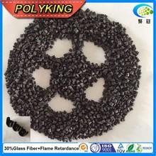 Reinforced flame retardant PA66 GF30 black plastic raw material nylon
