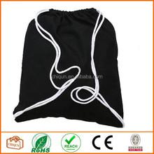 2015 Dongguan Chiqun Cotton Canvas Drawstring Bags Black