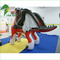 Customized PVC inflatable red dragon ,inflatable dragon animal