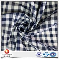 Nano care black white plaid cotton crepe fabric for girl dress