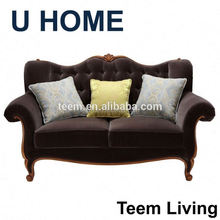 U HOME franch style fabric leather sofa (H522) wooden furniture
