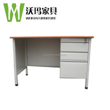 Wooden Top Office Table design Reception Desk / Metal Table Frames Executive Desk