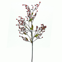 Wholesale Artificial Branch Red Berry Christmas Home Decor Fans