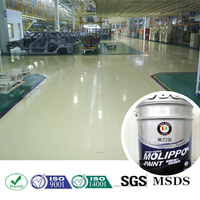 Thick film wear resisitant floor paint