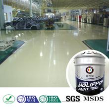 Thick film wear resisitant floor paint