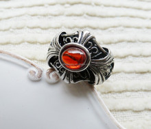 Wholesale High Quality Fashion Ruby Ornate Ring High Quality stainless steel ring