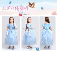 Wholesale pretty design kids cinderella costumes wedding dress