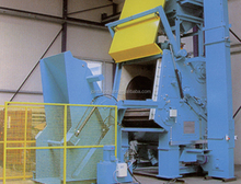Tumbling/tumble rubber/steel belt tracked shot blasting machine abrator price