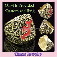 Ice Hockey Championship Jewelry Ring, 2000 New Jersey Devils Murray NHL Stanley Cup Championship Ring