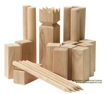 custom wooden kubb from viking kubb factory
