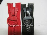 Senior europe standard good quality No 30 plastic zipper with huge slider
