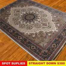 Exquisite floral bedroom natural handmade modern silk rugs