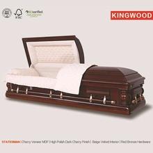 Estadista funeral ataúd esquinas de cremación contenedor