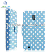 New design Polka Dot style Mobile Flip Cover for Samsung galaxy s2 t989 case