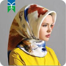 Digital Printing 2015 New Arrivals 100% Silk Scarf/Hijab alibaba