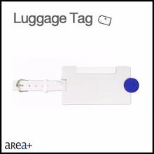 promotion item blue button custom plastic baggage tag