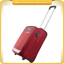 Alibaba China cheap bright red color trolley luggage bag, spinner luggage travel bag